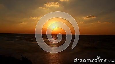 Lapso de tiempo de la puesta del sol en el apollonia almacen de metraje de vídeo