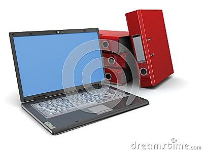 Laptop and binder folders