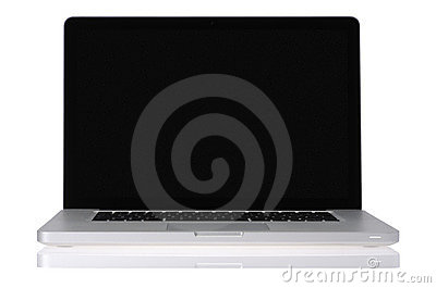 Laptop with black screen