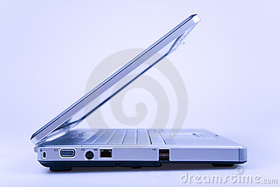 Laptop in blue