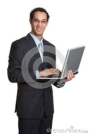 Free Laptop Buisness Man Stock Image - 1943681