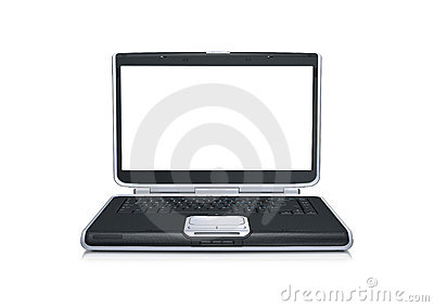 Laptop computer with blank wide screen