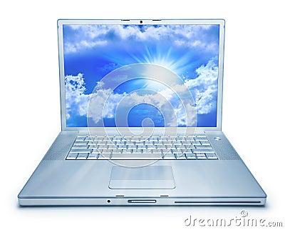 Laptop Computer Cloud Computing