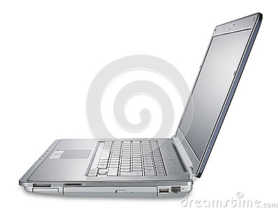 Laptop computer, shallow DOF with clipping path