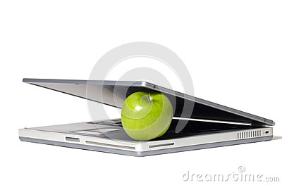 Laptop Eating Apple