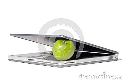 Laptop Eating Apple