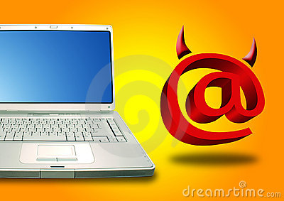 Laptop and Email devil