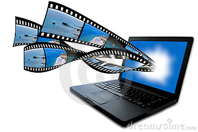 Laptop with filmstrip