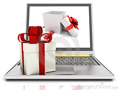Laptop and gifts