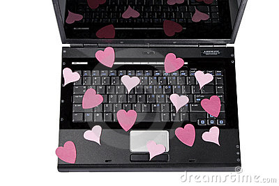 Laptop And Hearts