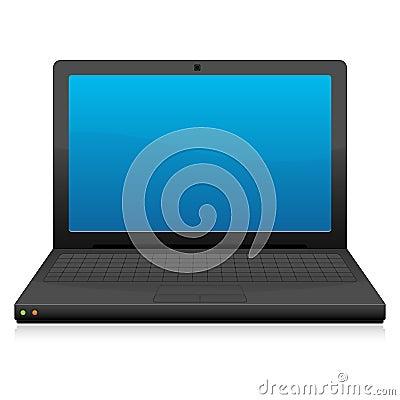 Laptop Icon In Black EPS