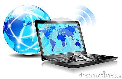 Laptop internet surfing