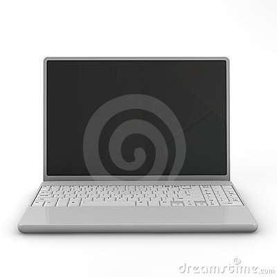 Laptop isolated.  Three-dimensional,  isolated on