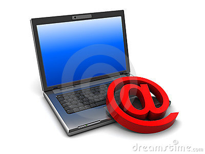 Laptop and mail symbol