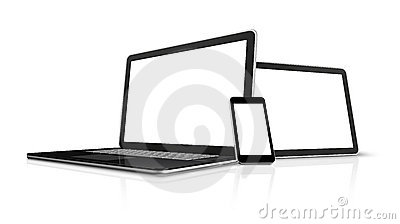 Laptop, mobile phone, digital tablet pc