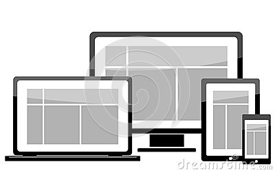 Laptop monitor tablet mobile icon
