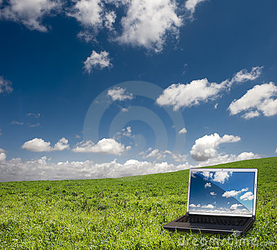 Laptop and nature