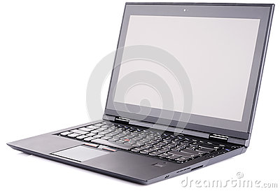 Laptop Over White Bakground Royalty Free Stock Photography - Image: 25912347