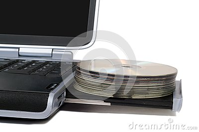 Laptop with overloaded DVD Drive