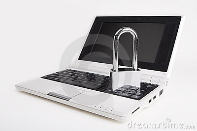 Laptop with the padlock