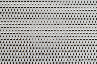 Laptop Speaker Hole grid metallic pattern macro with dust inside