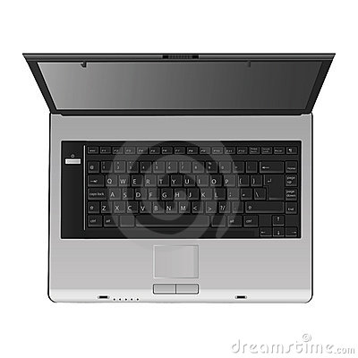 Laptop vector (top view)