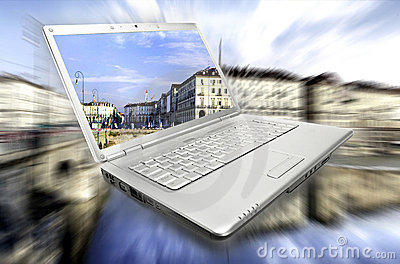 Laptop virtual journey