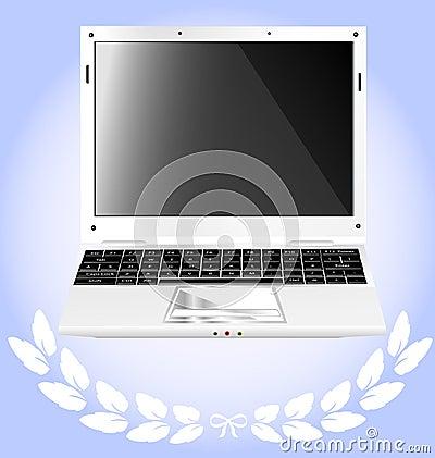 Laptop white