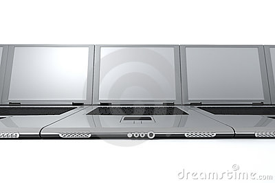 Laptops Stock Image - Image: 12793931