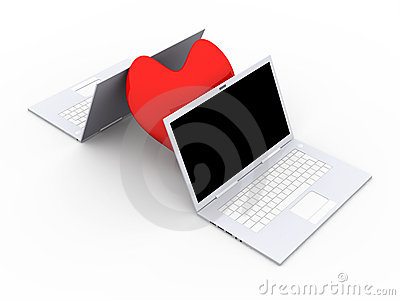 Laptops In Love Royalty Free Stock Photography - Image: 15255767