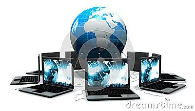 Laptops rond de wereld