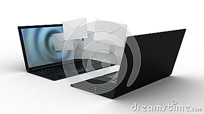 Laptopu i komarnicy koperty