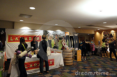 Larabar sales booth at the Yoga Journal Conference Editorial Image