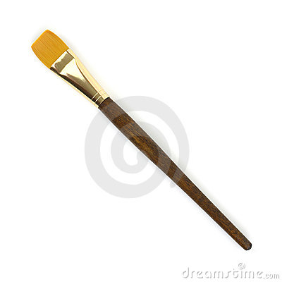 Large acrylic artist brush