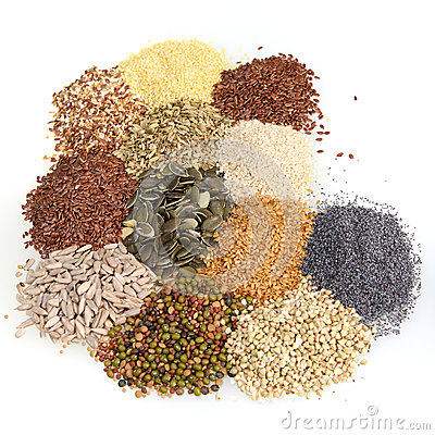Free Large Assortment Of Edible Seeds Royalty Free Stock Image - 29043716