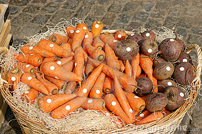 Large basket of vegetables