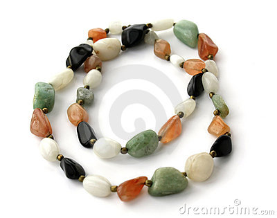 Large beads of different stones