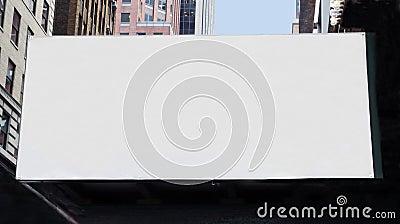 A large Blank billboard
