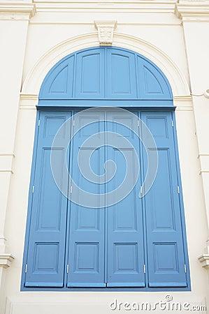 Large blue window