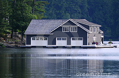 Large boathouse