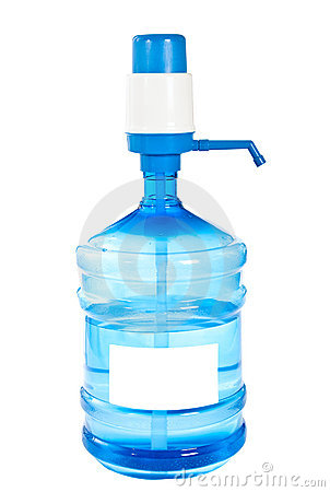 Large bottle of clean drinking water.