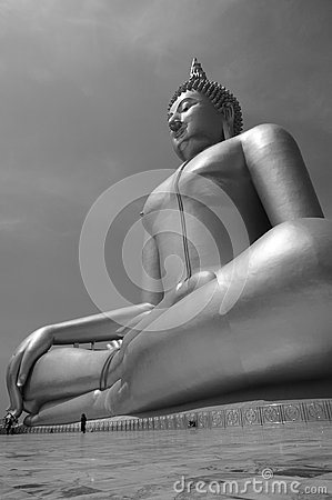 LARGE BUDDHA BLACK & WHITE
