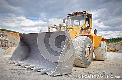 Large bulldozer