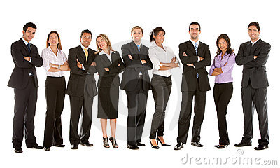 Large business team