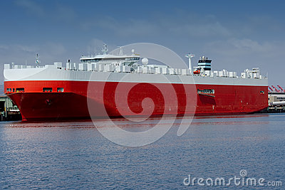 Large car carrier ship