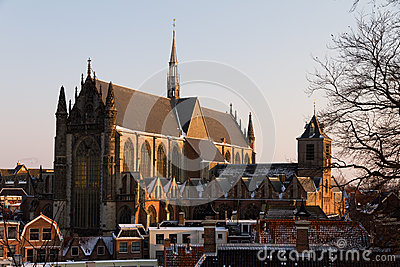 Large catholic church in Leiden