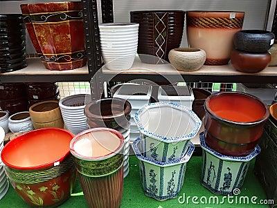 Large Ceramic Flowerpots