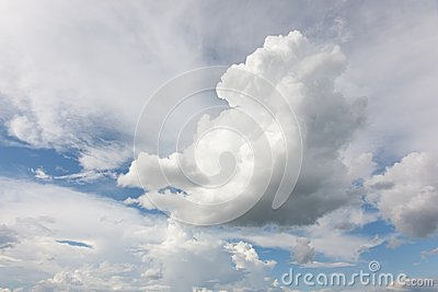 Large clouds in the sky