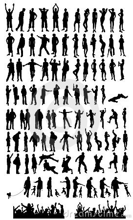 Large collection of silhouette