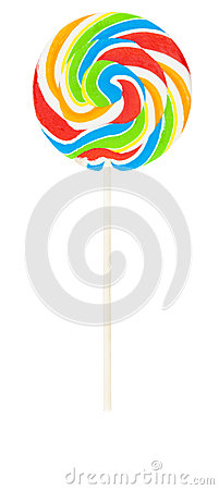 Large colorful lollipop isolated